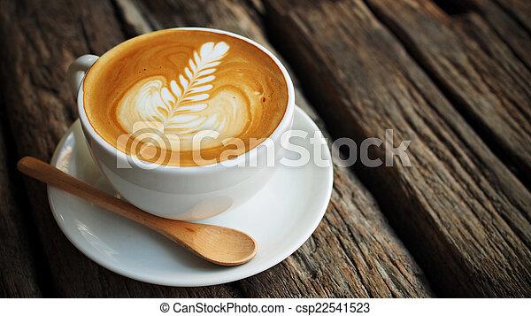 cup of coffee in coffee shop vintage color - csp22541523
