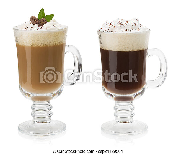 cup of coffee isolated on white  - csp24129504