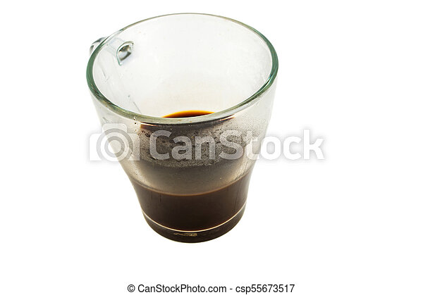 Cup of coffee on a white background - csp55673517
