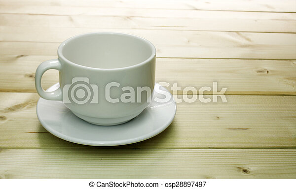 cup of coffee on the table - csp28897497