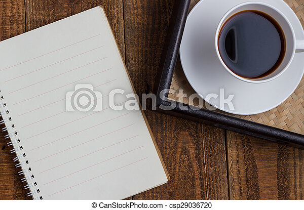 cup of coffee on wood - csp29036720