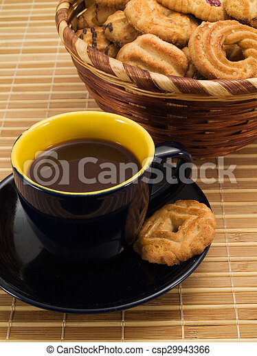 Cup of Coffee with Biscuits - csp29943366