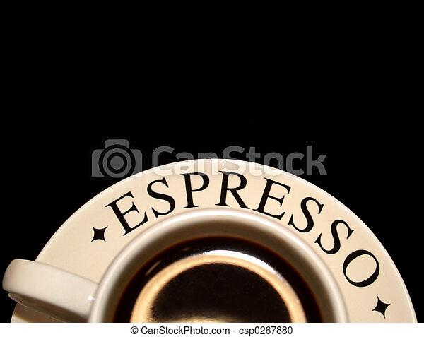 cup of espresso coffee - csp0267880
