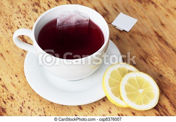 Cup of fruit tea - csp8376007