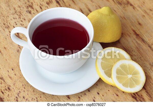 Cup of fruit tea - csp8376027