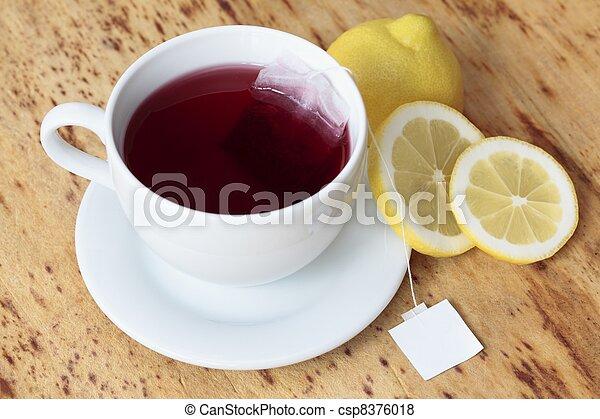 Cup of fruit tea - csp8376018