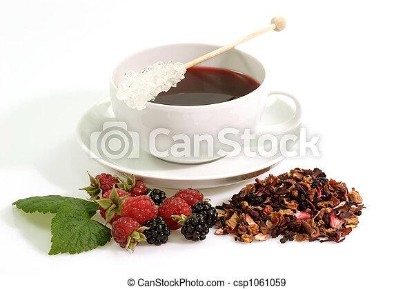 Cup of fruit tea - csp1061059
