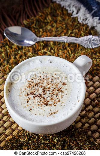 Cup of mocha coffee - csp27426268