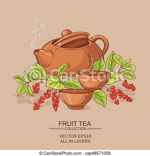 cup of schisandra tea and teapot