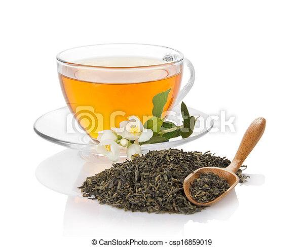 Cup of tea with a jasmine - csp16859019