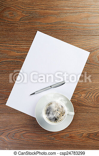 cup on white blank - csp24783299