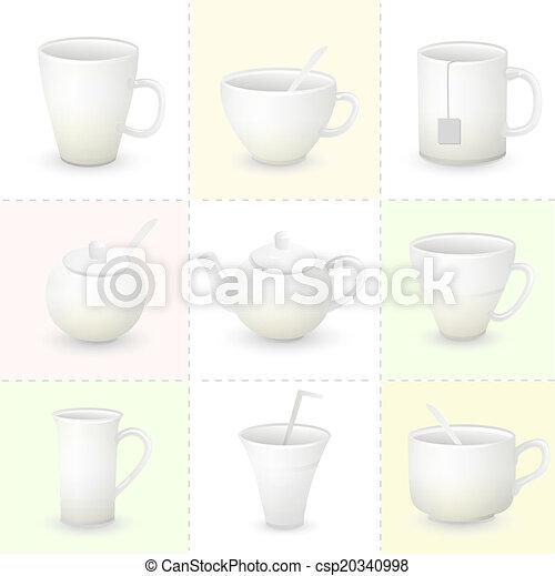 Cup set vector - csp20340998