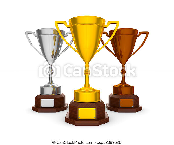 cup winner on white background. Isolated 3D illustration - csp52099526