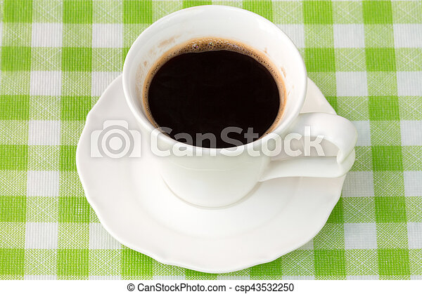 Cup with a black coffee - csp43532250