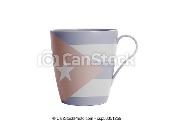 Cup with Flag of Cuba - csp58351259