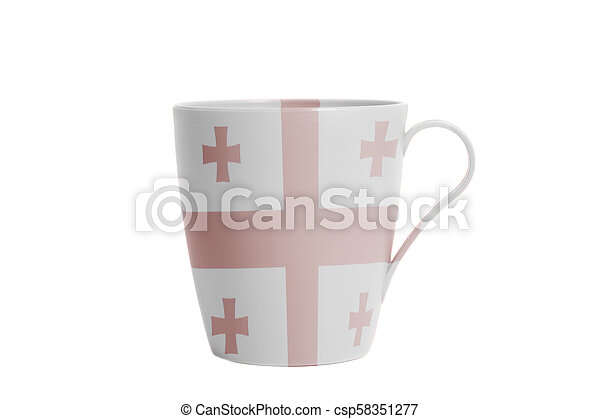 Cup with Flag of Georgia - csp58351277