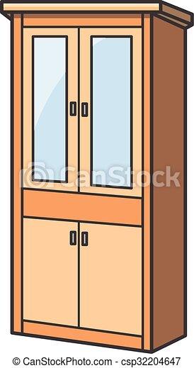 Cupboard clipart  Cupboard vector cartoon illustration eps vector - Search Clip Art ...