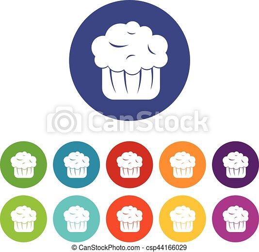 cupcake, セット, アイコン - csp44166029