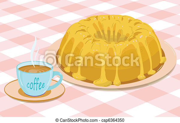 cupcake and a mug of coffee - csp6364350