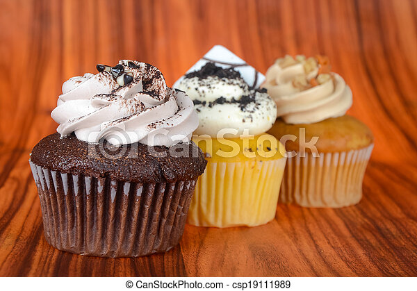 cupcake. cup cake on the background - csp19111989