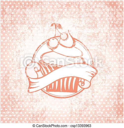 cupcake, etiqueta - csp13393963