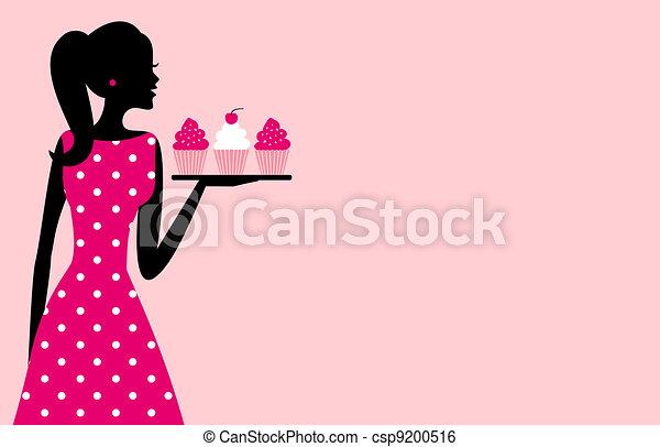 Cupcake Girl - csp9200516