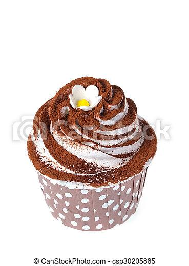 Cupcake isolate on white - csp30205885