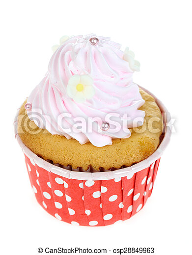 cupcake isolate on white. - csp28849963
