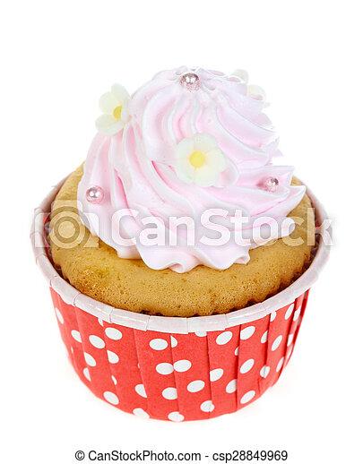 cupcake isolate on white. - csp28849969