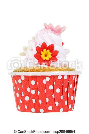 cupcake isolate on white. - csp28849954