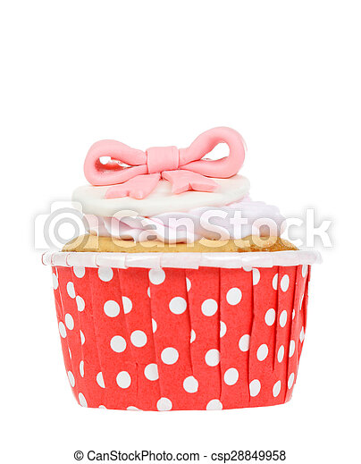cupcake isolate on white. - csp28849958