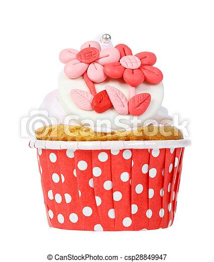 cupcake isolate on white. - csp28849947