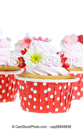 cupcake isolate on white. - csp28849938
