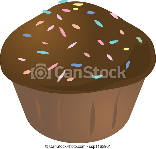 Cupcake Muffin Chocolate With Sprinkles Cupcake Muffin