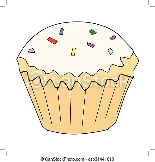 cupcake, tasty, sweet food - csp31441610