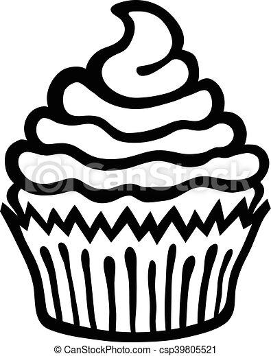 cupcake vector icon vector illustration search clipart drawings rh canstockphoto com cupcake vector gratis cupcake vector free download