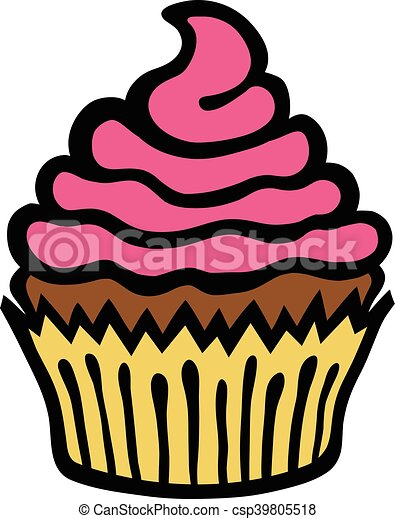 cupcake vector icon vector clip art search illustration drawings rh canstockphoto co uk cupcake vector free download cupcake vectoriel