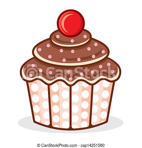 cupcake vector illustration vector search clip art illustration rh canstockphoto com cupcake vectoriel cupcake vector free
