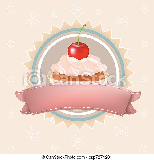 Cupcake With Cherry - csp7274201