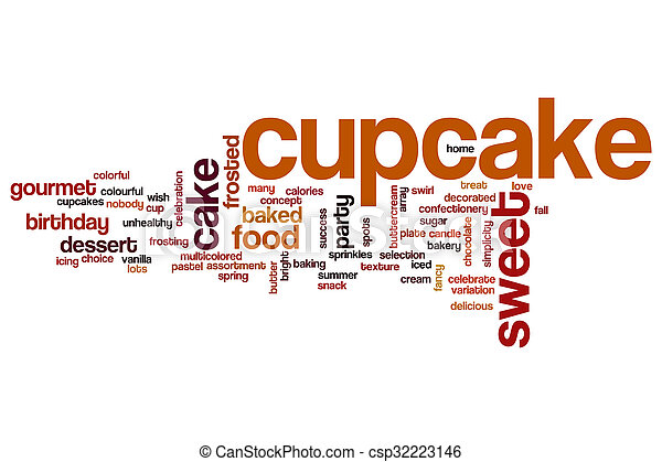 cupcake word cloud concept csp32223146