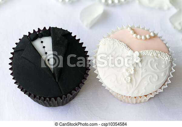 cupcakes, 婚禮 - csp10354584