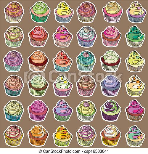 Cupcakes collection - csp16503041