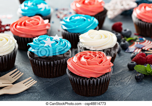 Cupcakes for the Fourth of July - csp48814773