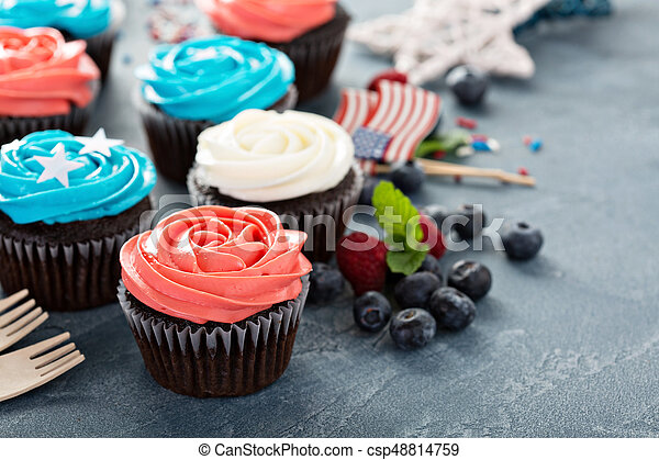 Cupcakes for the Fourth of July - csp48814759