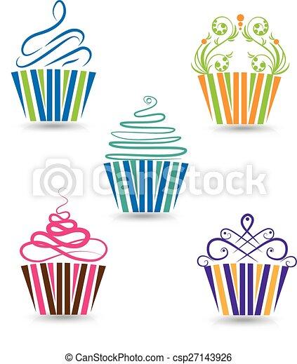 Cupcakes set  - csp27143926