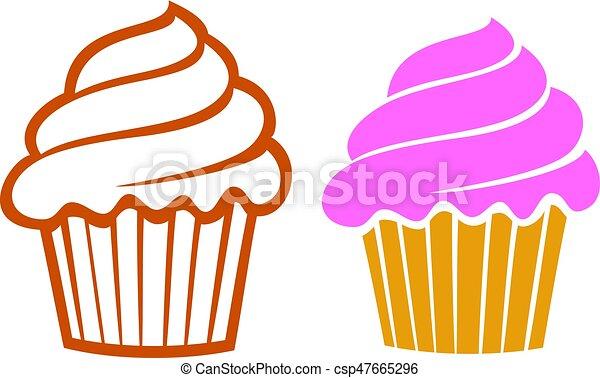 cupcakes vector illustration eps vectors search clip art rh canstockphoto com cupcake vector free cupcake vector icon