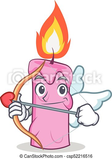 cupid candle character cartoon style vector illustration vector clip rh canstockphoto com Cupid Clip Art Printable Funny Cupid Clip Art