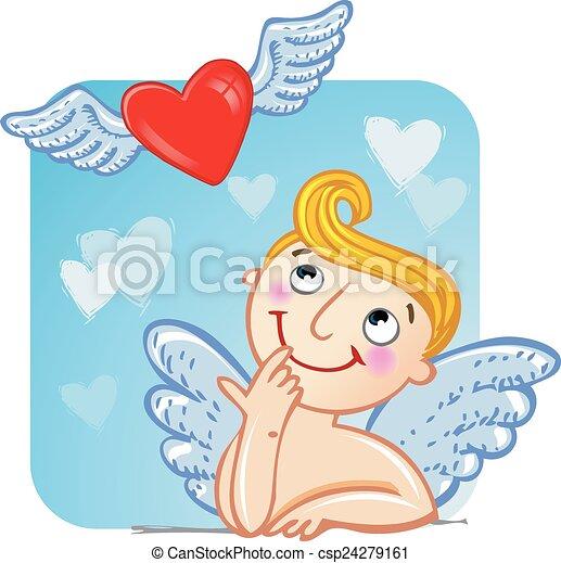 Cupid in love.  - csp24279161