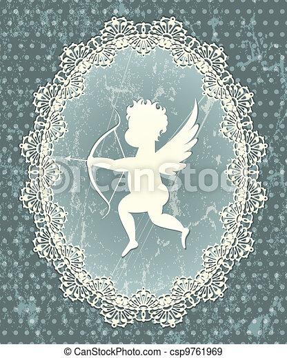 Cupid medallion - csp9761969