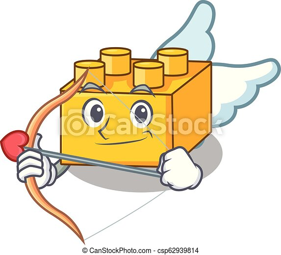 Cupid plastic building blocks cartoon on toy - csp62939814